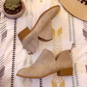 Shoes - Grey Cut Out Ankle Boots - 8